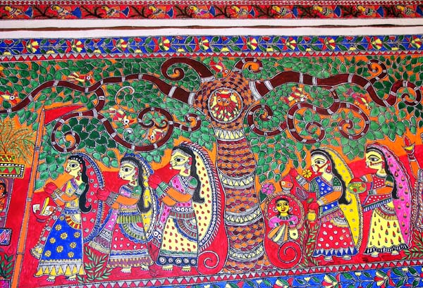 Mithila or Madhubani Style of Painting is Peculiar to Bihar, India (Image Courtesy: IGNCA website)